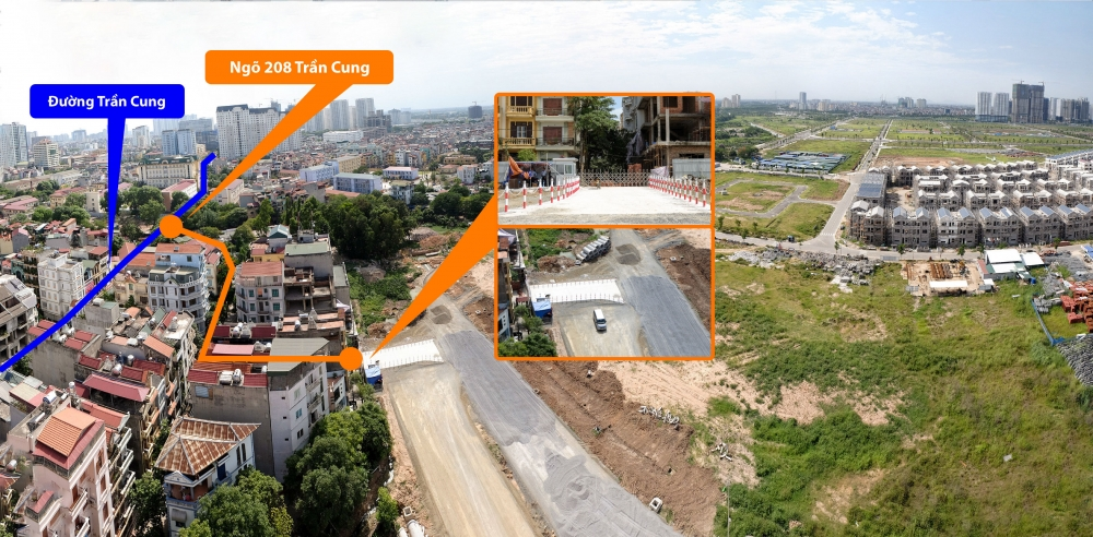 Đường tạm kết nối khu đô thị Starlake tới đường Hoàng Quốc Việt