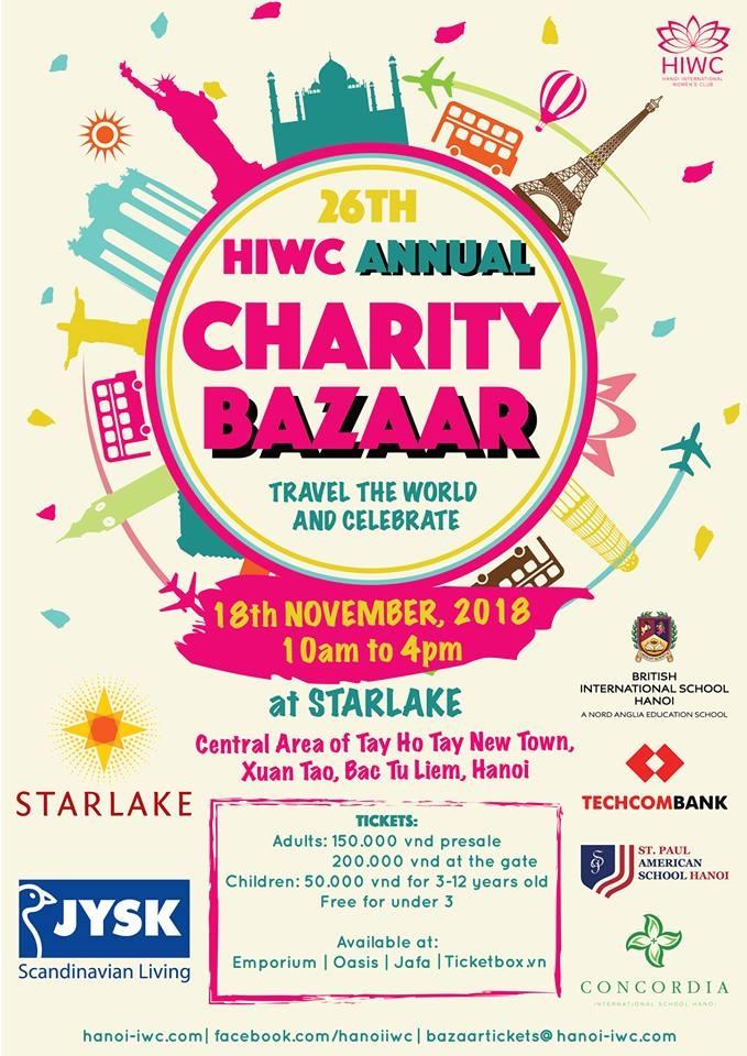 Tại Starlake một sự kiện lớn sắp diễn ra – Hội chợ từ thiện hàng năm HIWC 2018
