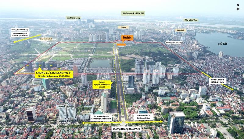 Lô đất xây dựng trung tâm thương mại của Toshin Development