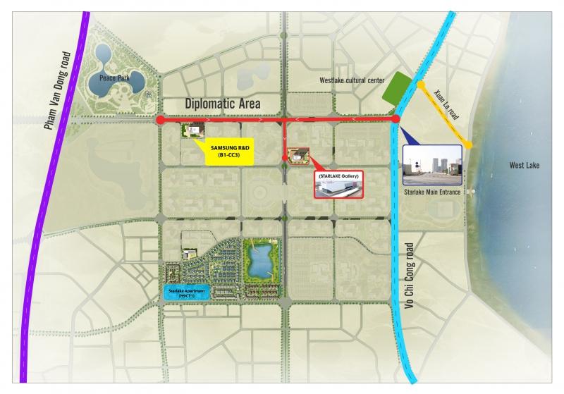 Địa điểm xây dựng trung tâm R&D của Samsung